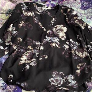 Black Rose Blouse